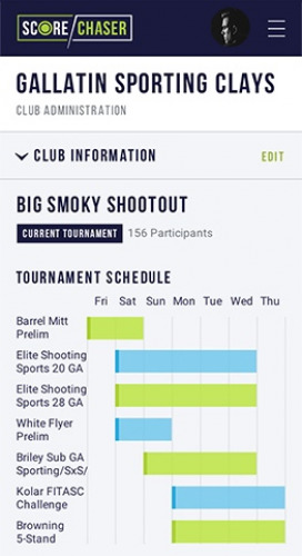 Mobile Club Tournament View